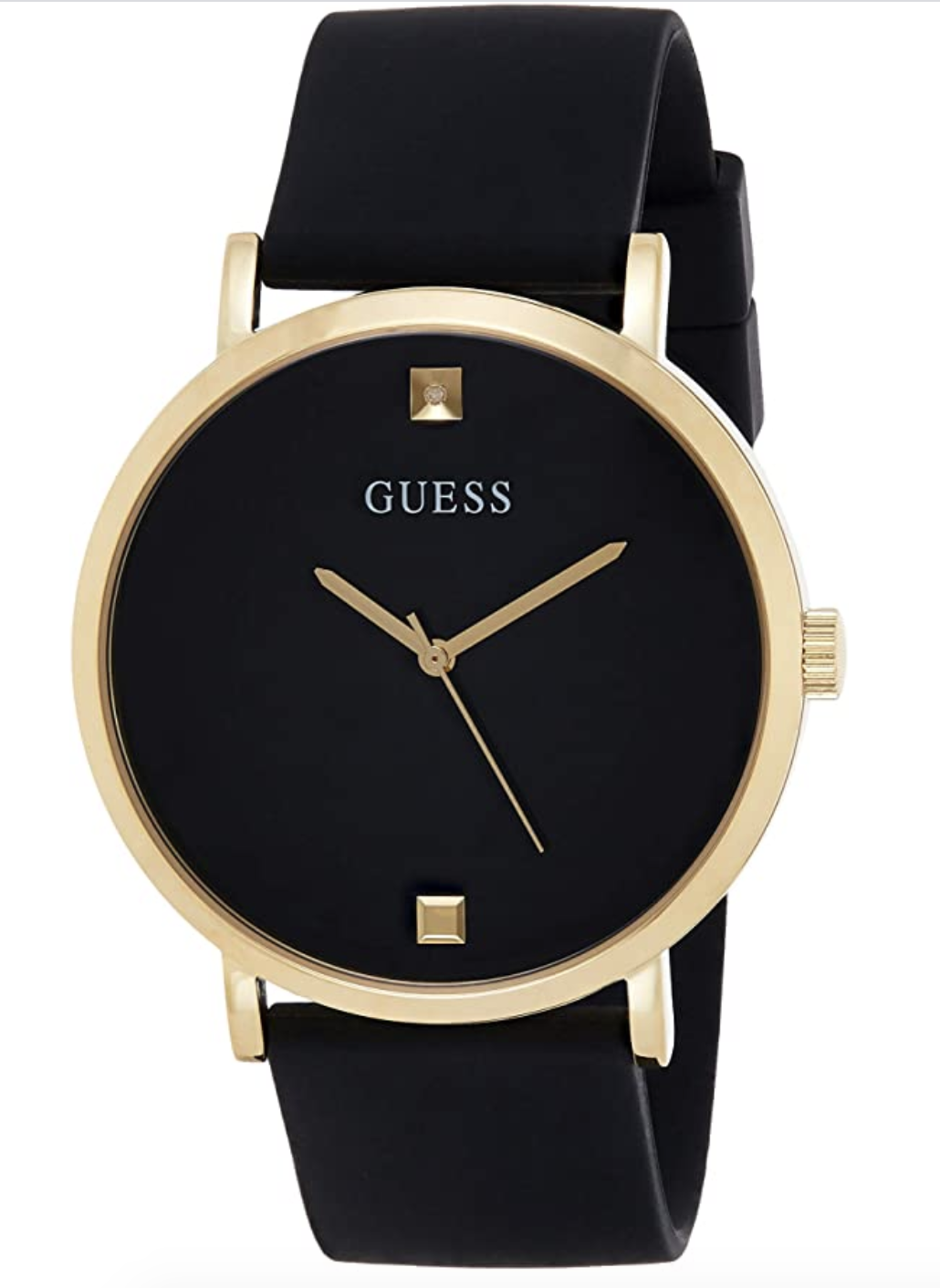 Guess Supercharged Men's Analog Japanese Quartz Watch With Silicone Bracelet W1264G1