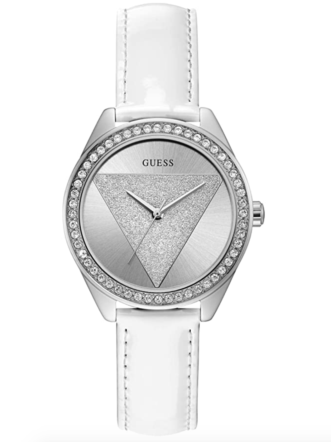 Guess Women Analogue Quartz Watch With Leather Strap W0884l2