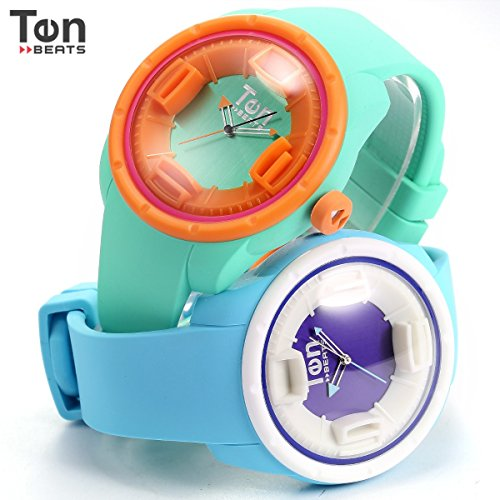 Tendence Ten Beats Wave Unisex Analog Blue Silicone Quartz Sport Wrist Watch BF130210