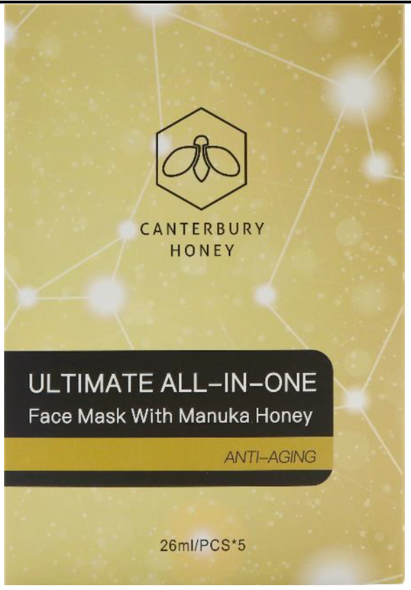 Canterbury Honey Ultimate All-In-One Face Mask With Manuka Honey (5 Masks)