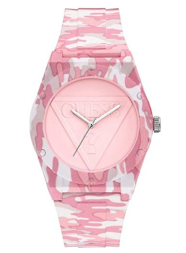 Guess Silicone Pink Rosa Blanco Women Watch W0979l13